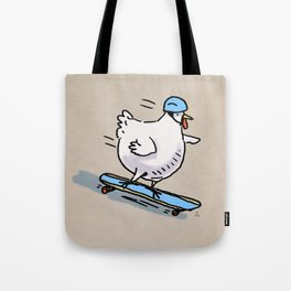 Long Board Chick Tote Bag