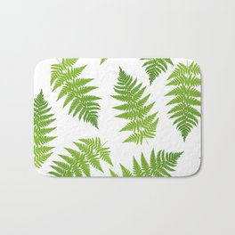 Fern seamless pattern. Bath Mat