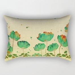 """""""Green flowers & Dots"""" Rectangular Pillow"""