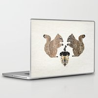 squirrel Laptop & iPad Skins featuring squirrel by Manoou