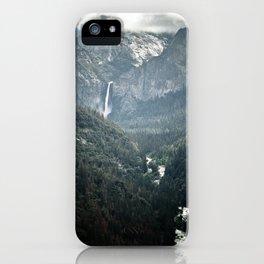 Waterfall in yosemite iPhone Case