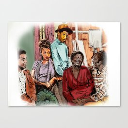 GOOD TIMES (pen sketch tribute to a classic sitcom) Canvas Print