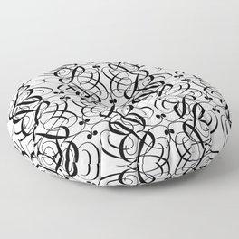 LETTERNS - B - Edwardian Script Floor Pillow
