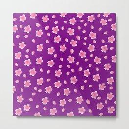 Sakura Pattern_H Metal Print