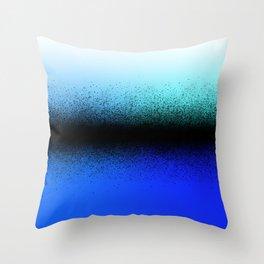 Black Dust on Blue Throw Pillow