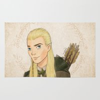 legolas Area & Throw Rugs featuring Legolas by Joan Pons
