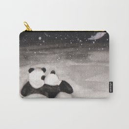 Panda love -watercolor Carry-All Pouch