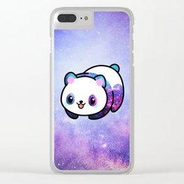 Kawaii Galactic Mighty Panda Clear iPhone Case