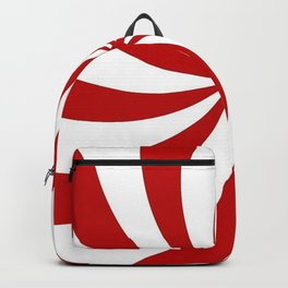 festive winter holiday candy land red and white lollipop candy swirls Backpack