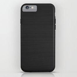 Onyx Black, Charcoal Gray Brushstroke Texture iPhone Case