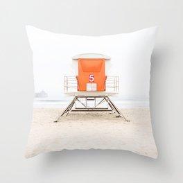 Orange Tower 5 Throw Pillow