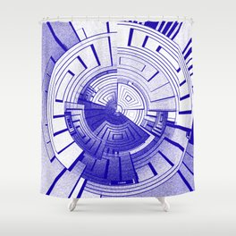 Futuristic abstract Shower Curtain