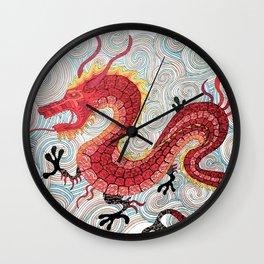 flying dragon Wall Clock