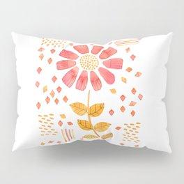 RED YELLOW FLOWER Pillow Sham