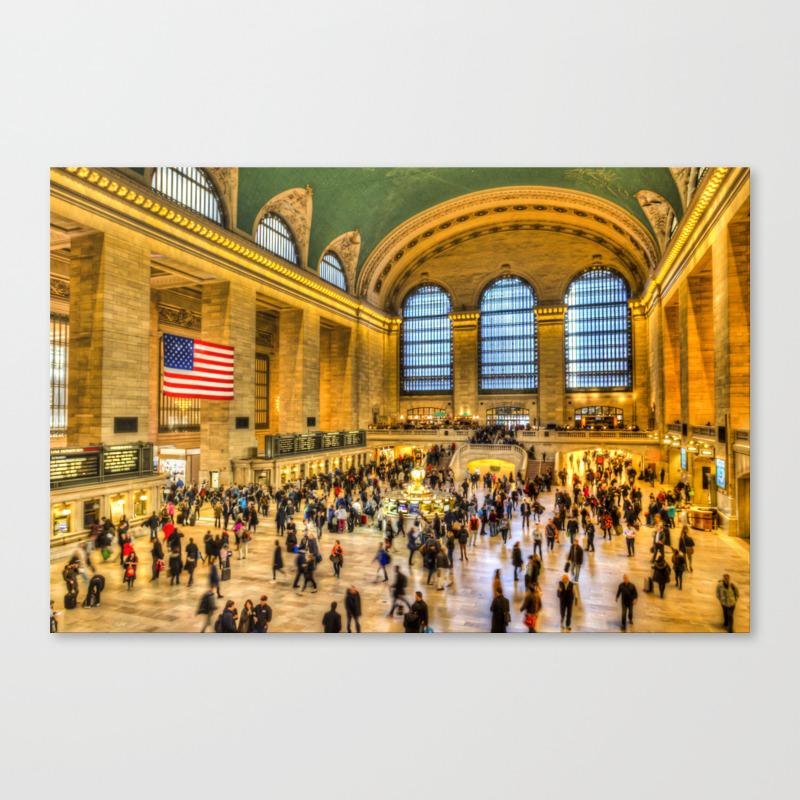 Grand Central Station New York Canvas Print by Davidpyatt CNV8584008