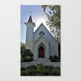 Silhouette Church 'Southern Charm' Canvas Print