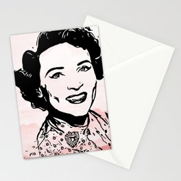 Betty White Pink Clouds Stationery Cards