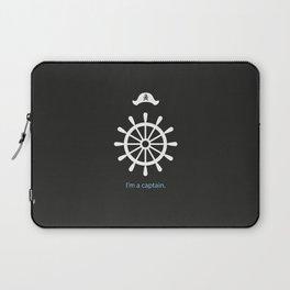 I'm a captain.(on black) Laptop Sleeve