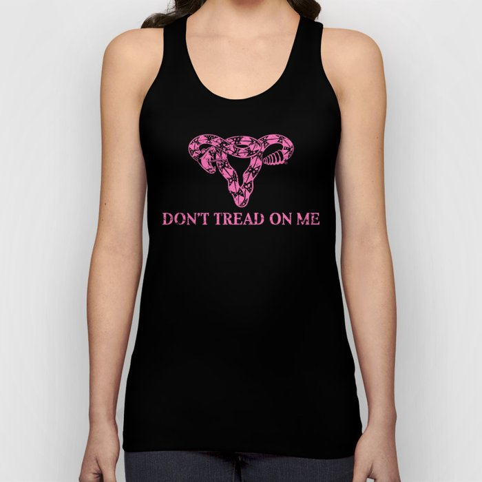 Don't Tread On Me pink Unisex Tanktop