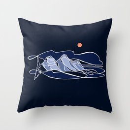 Begbie Blues :: Single Line Throw Pillow