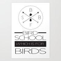 Bird School Art Print
