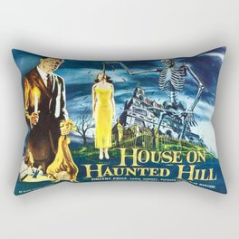 House on Haunted Hill, vintage horror movie poster Rectangular Pillow