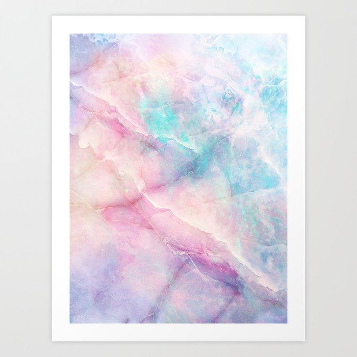 Iridescent marble Kunstdrucke