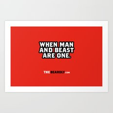 WHEN MAN AND BEST ARE ONE. Art Print
