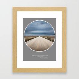 No Yesterdays Framed Art Print