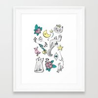 tatoo Framed Art Prints featuring Tatoo by Lorene R illustration