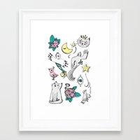 tatoo Framed Art Prints featuring Tatoo by Lorene R illustration