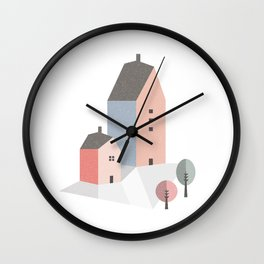Tiny houses Wall Clock