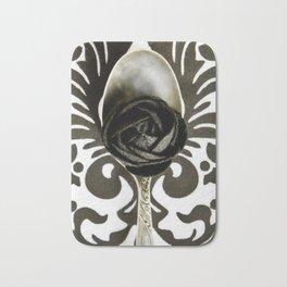 Spoon Black and White Art Bath Mat