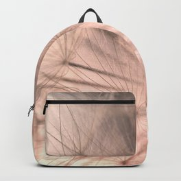 Pink Dandelion Macro Nature Photography Art and Apparel Backpack