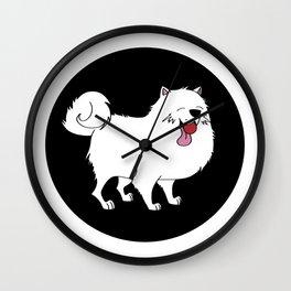 Samoyed dog doggie Puppy gift present Wall Clock