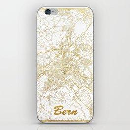 Bern Map Gold iPhone Skin