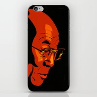 lama iPhone & iPod Skins featuring Dalai Lama  by Jake Wangner