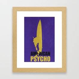American Psycho Minimalist Poster Framed Art Print