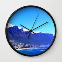 south africa Wall Clocks featuring South Africa Impression 10 by Art-Motiva
