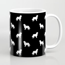 Bernese Mountain Dog pet silhouette dog breed minimal black and white pattern Coffee Mug