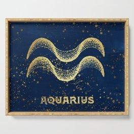 Aquarius Zodiac Sign Serving Tray