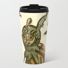 Owl dressed as a soldier Travel Mug