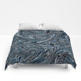 Blue Liquify Comforters