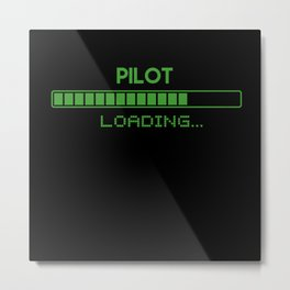 Pilot Loading Metal Print