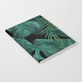 Tropical Summer Night Jungle Leaves Dream #1 #tropical #decor #art #society6 Notebook