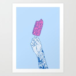 Brain ice cream! mmmmm Art Print