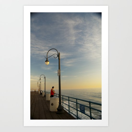 Santa Monica Pier 2 Art Print