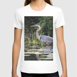 Heron pose in the channel T-shirt