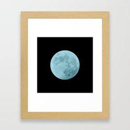 BLUE MOON // BLACK SKY Framed Art Print
