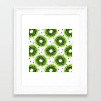 kiwi Framed Art Prints featuring Kiwi by beach please